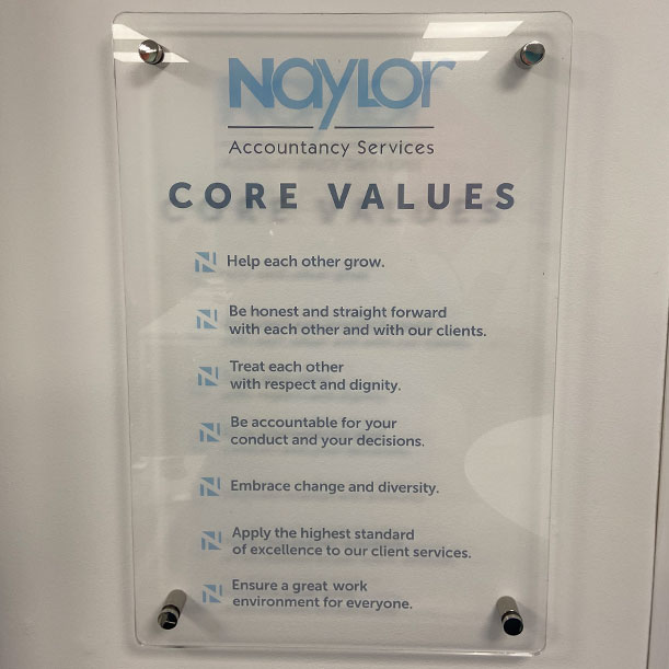 Naylor Accountancy Core Values