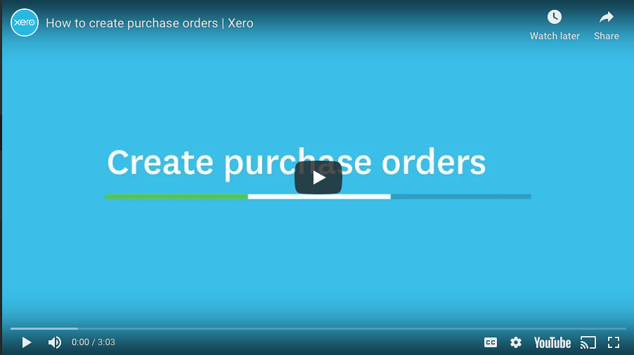 How to create Purchase Orders